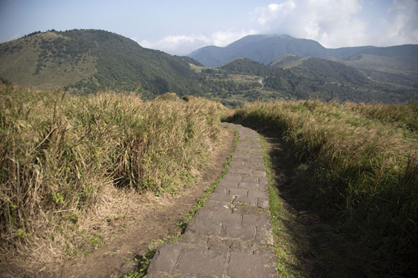 Foto van Trail leading over the mountains of YangmingshanYangmingshan National Park - Taiwan