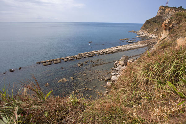 Foto van View of the cape of Yeliu with bean curd rock belowYeliu - Taiwan