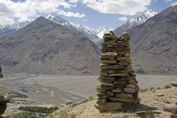 Picture of Abrashim Qala (Tajikistan): Abrashim Qala with views of the surrounding mountains