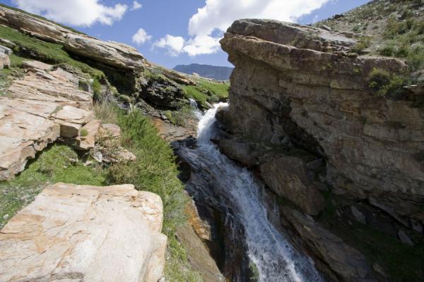 Picture of Abrashim Qala (Tajikistan): The stream we had to cross to visit Abrashim Qala