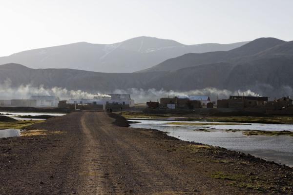Picture of Bulunkul (Tajikistan): Early morning smoke over the village of Bulunkul