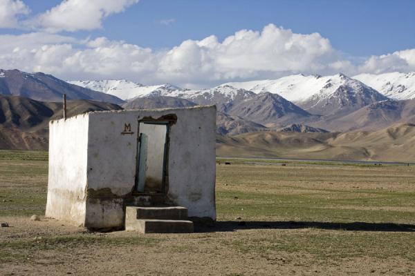 Lavatory in the landscape of Bulunkul | Bulunkul | Tajikistan