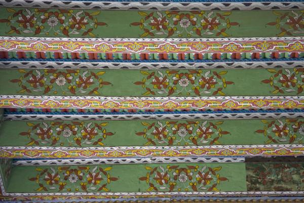 Picture of Istaravshan Old Town (Tajikistan): Painted beams of the ceiling of the Hauz-i-Sangin mosque