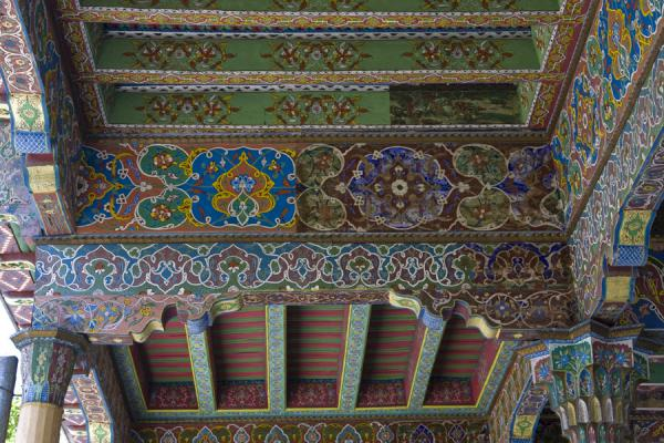 Picture of Istaravshan Old Town (Tajikistan): Delicately painted ceiling of the Hauz-i-Sangin mosque