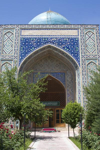 Picture of Istaravshan Old Town (Tajikistan): Kök Gumbaz inside the Abdullatif Sultan Medressa