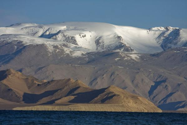 Picture of Tajikistan (Lake Kara Kul with mountains in the background)