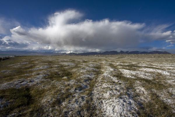 Picture of Tajikistan (Surface with salt near Lake Kara Kul)