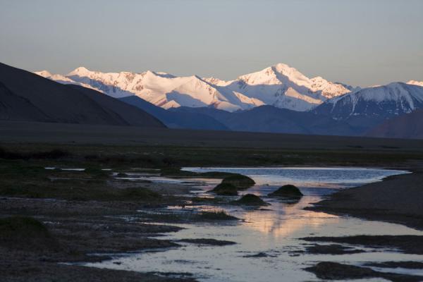 Picture of Lake Kara Kul (Tajikistan): Sunrise over the Kara Kul area