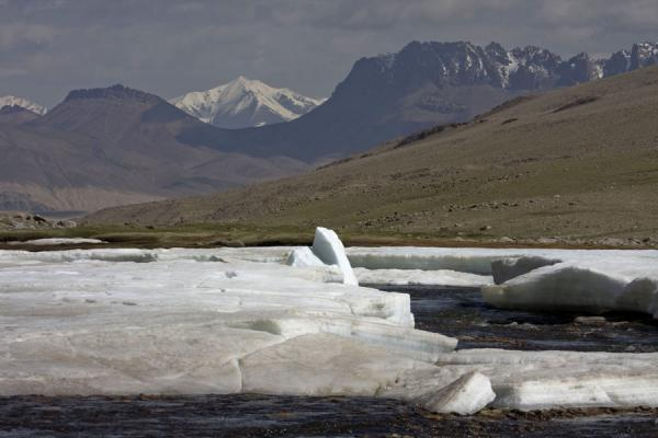 Picture of Keng Shiber (Tajikistan): River with ice in Keng Shiber