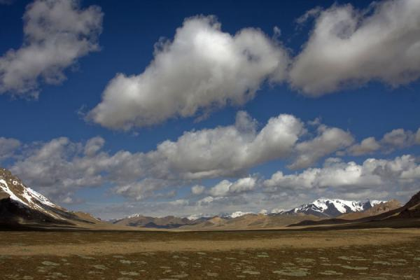 Picture of Keng Shiber (Tajikistan): Wide plains surrounded by snowy mountains: landscape of Keng Shiber