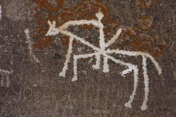 Picture of Man on a horse depicted in a petroglyph