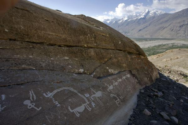 Picture of View from a rock with petroglyphs, Wakhan valley in the background
