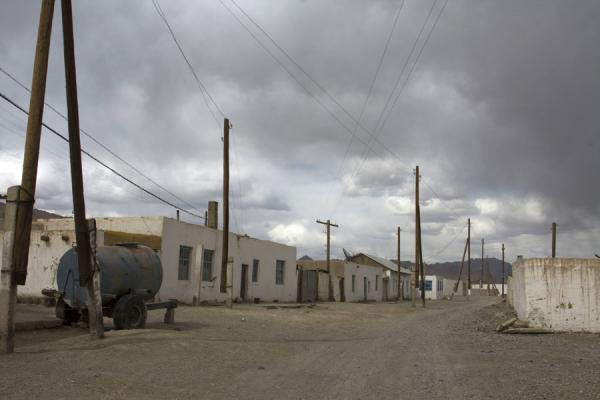 Picture of Street in Murgab with threatening skyMurgab - Tajikistan