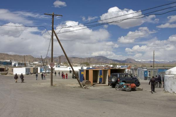 Foto van Wide, dusty streets near the market of MurgabMurgab - Tadzjikistan