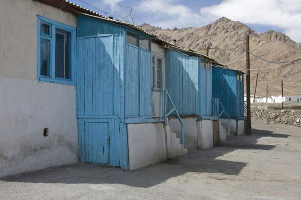 Picture of Blue and white house in MurgabMurgab - Tajikistan
