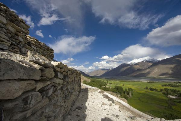 Looking east from the Buddhist stupa of Vrang | Vrang Buddhist stupa | Tajikistan