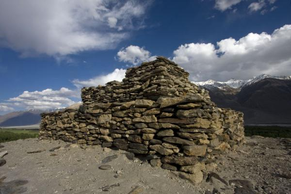 The stone platforms of the Buddhist stupa of Vrang | Vrang Buddhist stupa | Tajikistan
