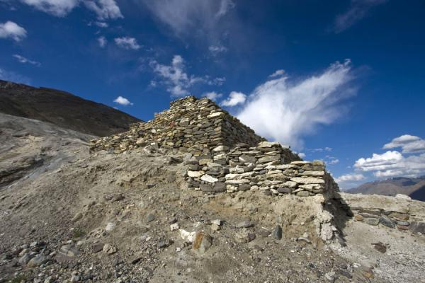 Buddhist stupa seen from below | Vrang Buddhist stupa | Tajikistan