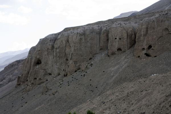 Ancient caves above Vrang | Vrang Buddhist stupa | Tajikistan