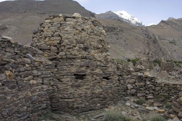 Picture of Round watchtower of Yamchun fortressYamchun - Tajikistan