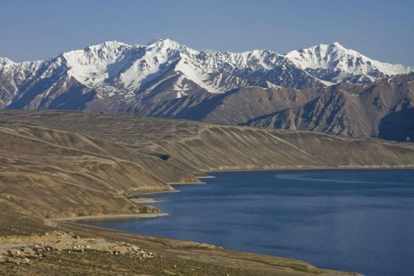 Picture of The southern side of Yashil Kul in the early morningYashil Kul - Tajikistan