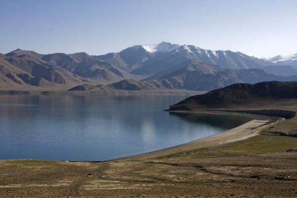 Picture of Beach, mountains, and Yashil KulYashil Kul - Tajikistan