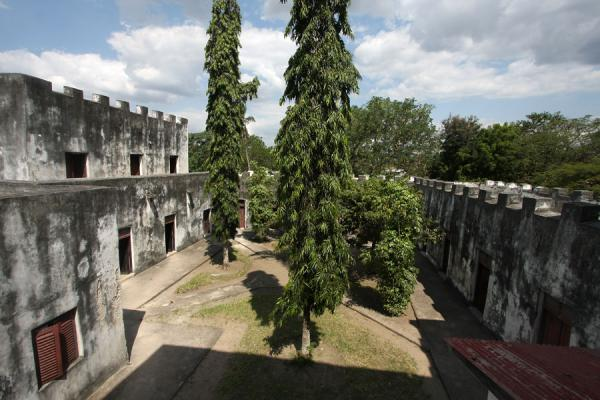 Picture of Bagamoyo (Tanzania): Looking into the courtyard of the German Fort