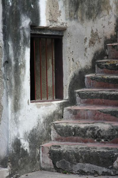 Picture of Bagamoyo (Tanzania): German Fort: stairs and window