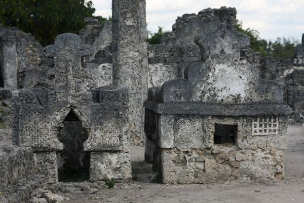 Several graves at Kaole cemetery | Kaole Ruins | Tanzania