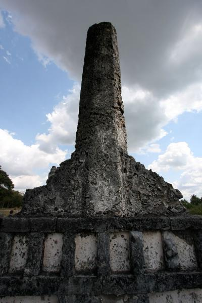 Picture of Pillar marking grave of an important person at KaoleKaole - Tanzania