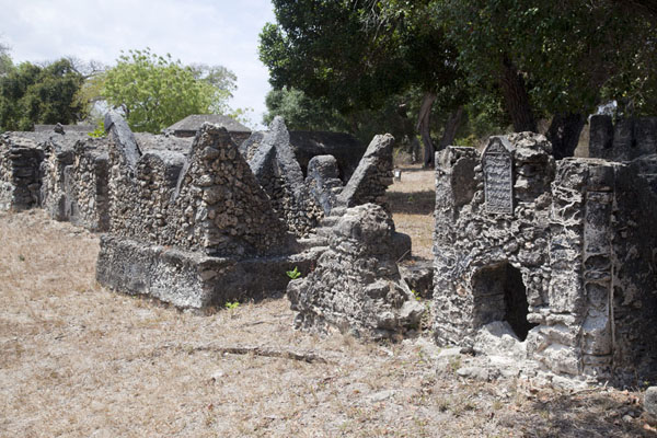 Graves at the Kunduchi graveyard | Kunduchi ruins | Tanzania