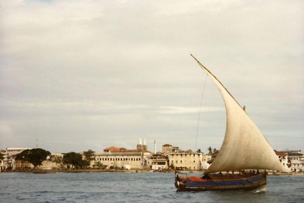 Picture of Dhow in Stone Town harbour, Zanzibar