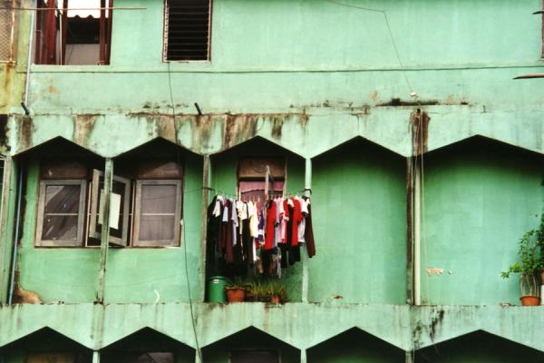 Picture of Bangkok Cycling tour (Thailand): Laundry hanging on a balcony