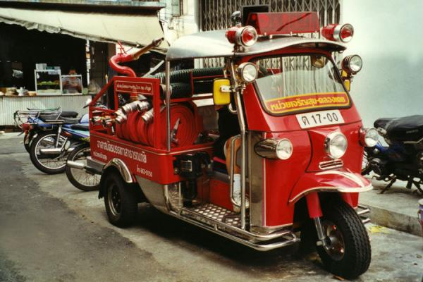 Picture of Bangkok Cycling tour (Thailand): Tuk-tuk for fire-brigade in Bangkok