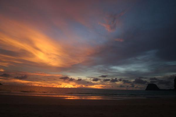 Picture of Ko Mook: sunset colouring the skies on the west coast of the island
