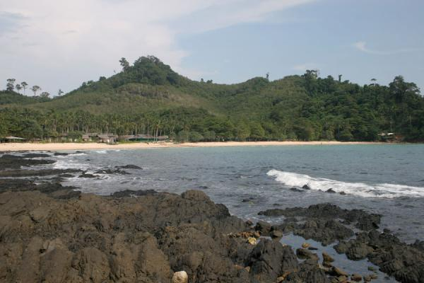 Picture of Ko Mook: rock and sand on the western coast of the paradisical island