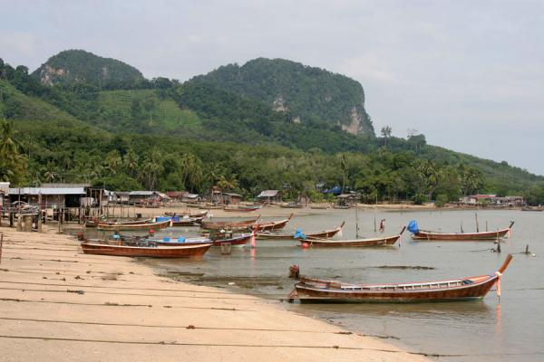 Picture of Ko Mook: fishing village, boats and beach on the eastern shore
