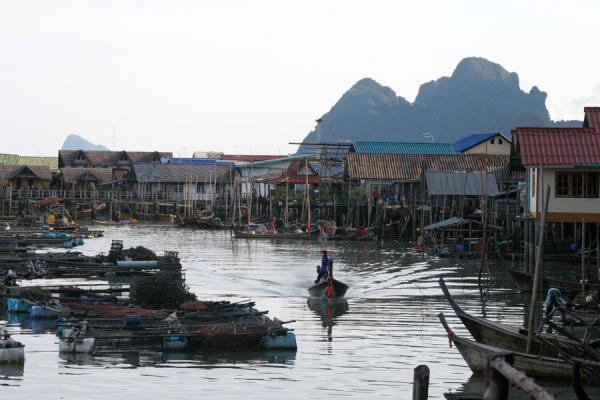 Picture of Ko Panyi (Thailand): Early morning departure of fishing boat in Ko Panyi
