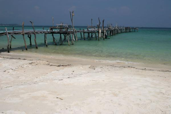 The pier of Hat Lung Dum on Ko Samet | Ko Samet | Thailand
