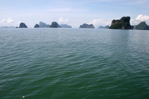 Picture of Phang Nga Bay (Thailand): Islands peeking out of the sea at Phang Nga National Bay