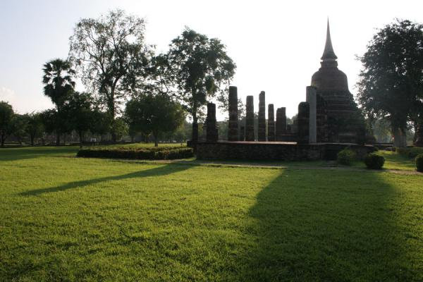 Picture of Sukhothai (Thailand): Wat Mai: play of light and shadow at Sukhothai