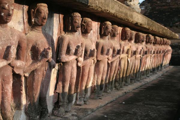 Picture of Sukhothai (Thailand): Base of Wat Mahathat in Sukhothai