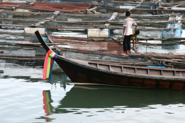 Picture of Thai Fishermen (Thailand): Fisherman leaving Ko Panyi