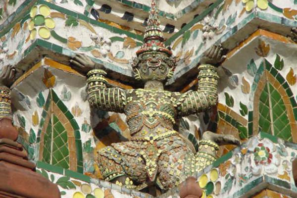 Detail of a corner | Wat Arun | Thailand