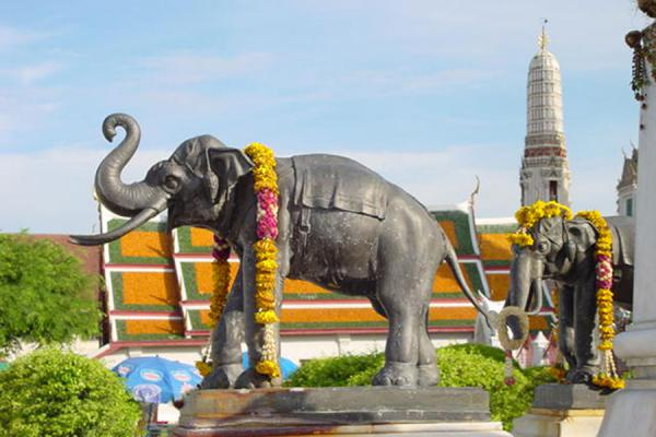 Foto van Decorated elephantBangkok - Thailand