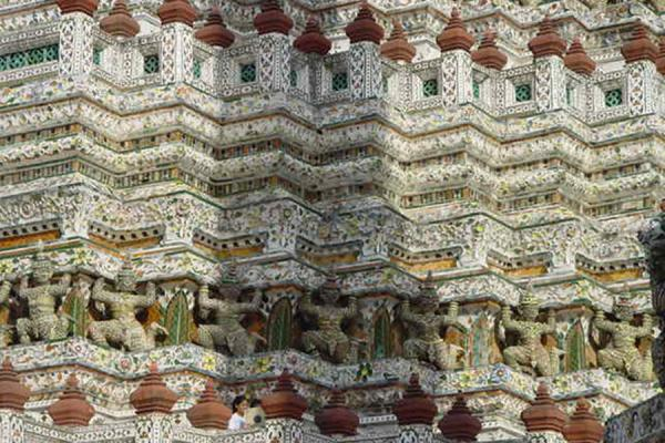 Foto van Closeup of the templeBangkok - Thailand