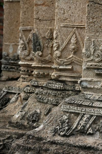 Picture of Wat Phra Mahathat (Thailand): Detail of the carvings in Wahathat temple
