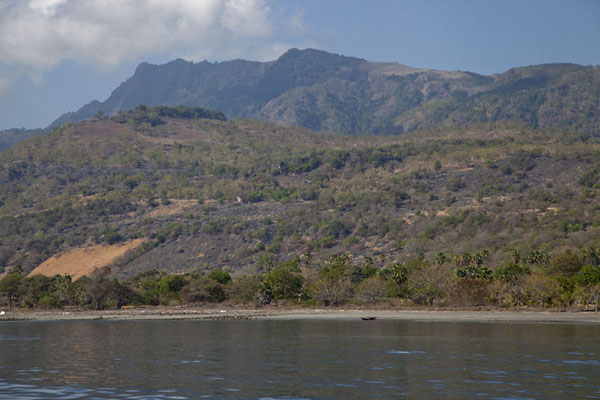 Photo de View of Atauro from the sea, with its highest peak, Mount ManucocoAtauro - Timor Oriental