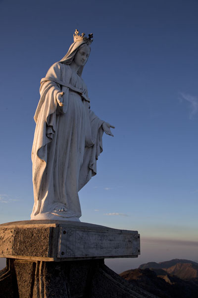 Virgin Mary statue looking west on the summit of Mount Ramelau | Mount Ramelau | Timor-Leste