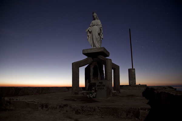 Picture of Virgin Mary under a starry sky before sunriseRamelau - Timor-Leste
